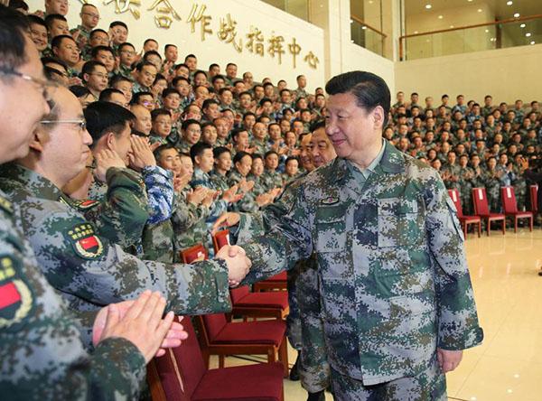 (时政)习近平视察军委联合作战指挥中心